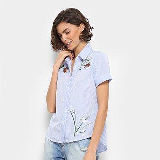d7a525bd9f Camisa For Why Listrada Bordada Feminina