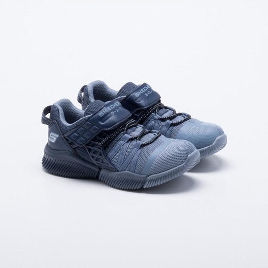 Tênis Infantil Skechers Iso Flex Masculino - Azul Claro - Compre ... 75698701183ec
