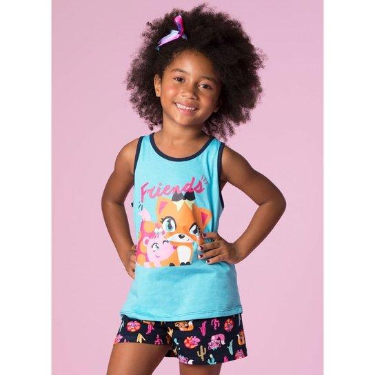 e3c59521d Pijama Infantil Puket Curto Meia Malha - Compre Agora