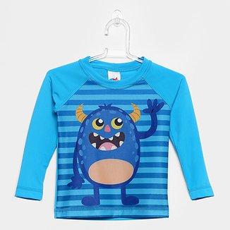 Camiseta Infantil Tip Top Praia Manga Longa Masculina 56329d5a331