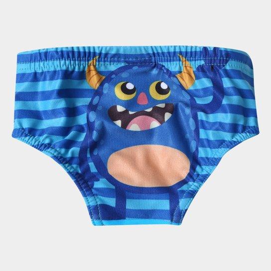 d02928ead3 Sunga Infantil Tip Top Monstrinhos Kids - Azul Claro - Compre Agora ...