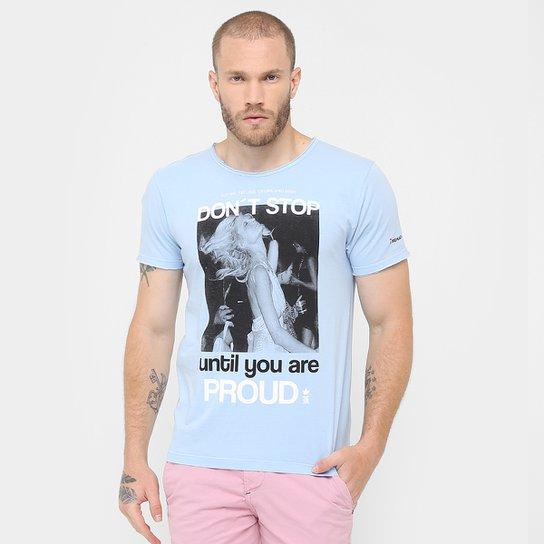 6700d756ff Camiseta Sérgio K. Estampada Don t Stop - Azul Claro