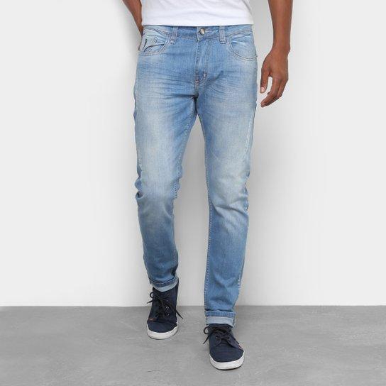 0026aab98 Calça Jeans Skinny Rock Blue Estonada Masculina - Compre Agora