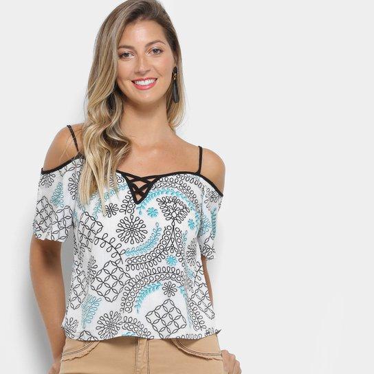 0b2b6d4e1 Blusa Lez a Lez Bata Estampada Bali Feminina - Compre Agora | Zattini