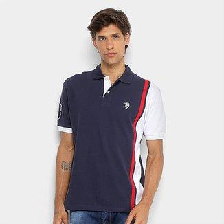 f7834572ed Camisa Polo U.S Polo Assn Piquet Listras Patch Masculina