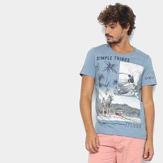87becdac74 Camiseta Kohmar Estampa Tropical Masculina