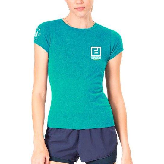 cd89b13a9 Camiseta Baby Look Feminina de Treino - Enforce Fitness-GG-Cinza - Azul  Claro