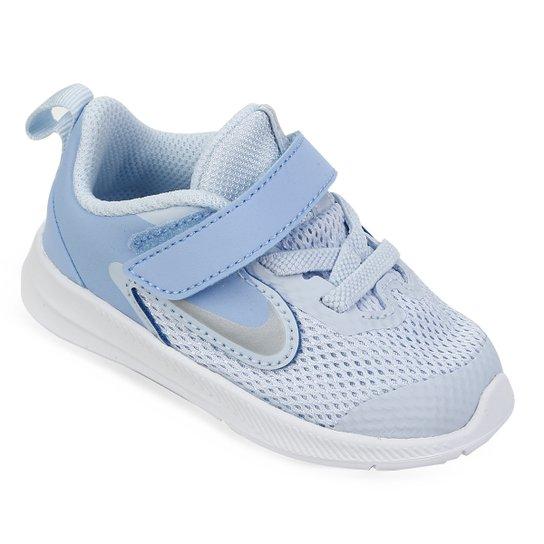 306519ac9fc Tênis Infantil Nike Downshifter 9 Velcro TDV - Azul Claro - Compre ...