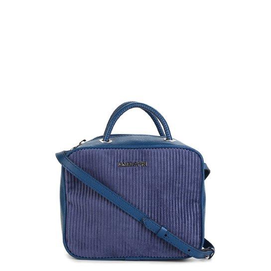 1ca6681ae Bolsa Anacapri Mini Bag Transversal Canelada Feminina - Azul Claro ...