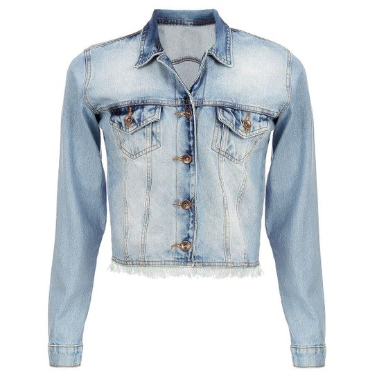 5b457222d5 Jaqueta Jeans Tyn Feminina - Azul Claro