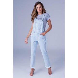 3a54540b7 Macacão Jeans Equivoco Mila Feminino