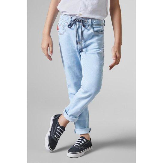 bcfaf06807 Calça Infantil Jeans Elastano Reserva Mini Masculina - Azul Claro ...