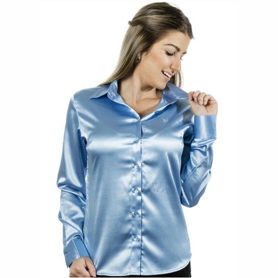 5a29e72196 Camisa Pimenta Rosada Aqua - Azul Claro - Compre Agora