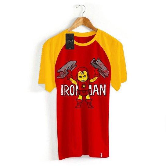 2bc6f2708c Camiseta Infantil Marvel Homem de Ferro Cartoon - Vermelho+Amarelo