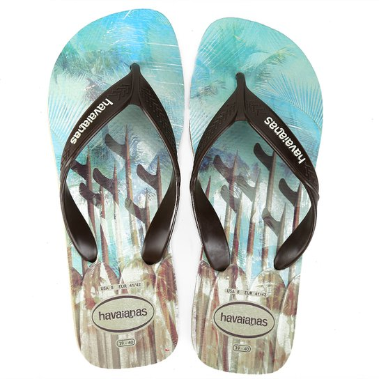 13b15e49806d Chinelo Havaianas Surf Masculino - Azul Claro e Preto - Compre Agora ...