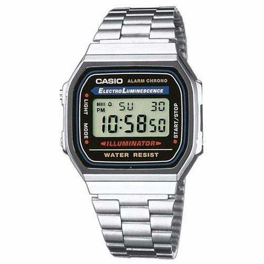 85e536db7b7 Relógio Casio - A168Wa-1Wdf - Prata - Compre Agora