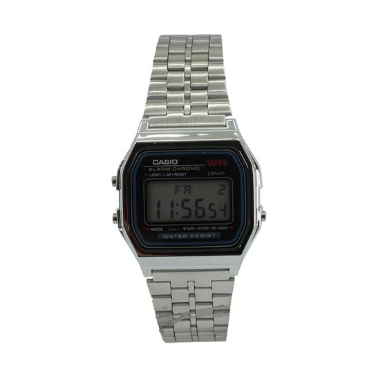 acca178ebd7 Relógio Casio Vintage A159WA-N1DF - Prata - Compre Agora