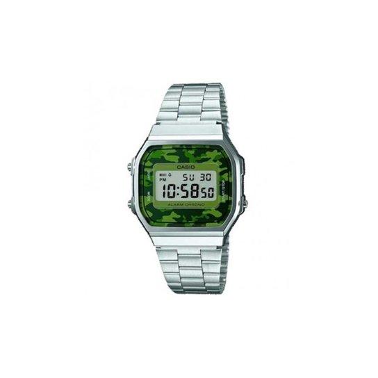 082563b482b Relógio Casio Vintage A168WEC-3DF - Prata - Compre Agora