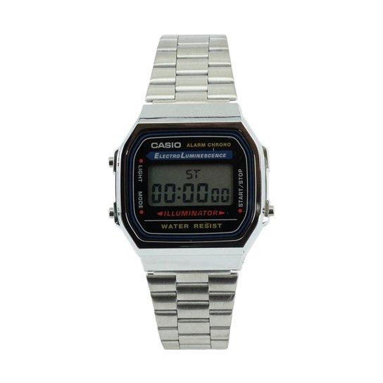 bf5ef281b6c26 Relógio Casio Vintage A168WA-1WDF - Prata - Compre Agora   Zattini