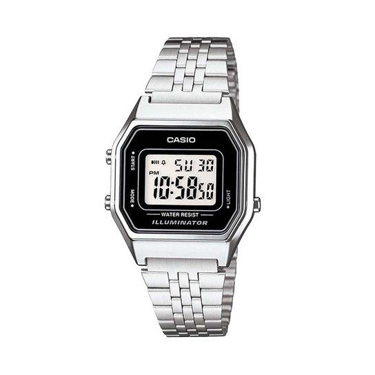 94c9fb99509 Relógio Casio Vintage LA680WA-1DF - Prata - Compre Agora