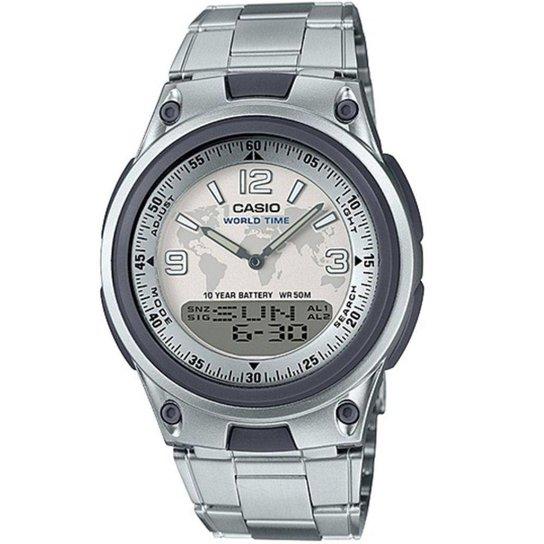 Relógio Masculino Casio Digital Aw-80D-7A2vdf - Prata - Compre Agora ... 30f0ea35c0