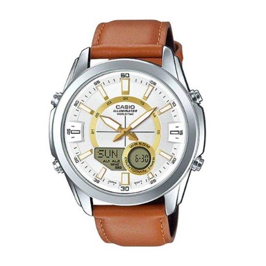 e1f05fbe5ec Relógio Masculino Casio World Time Amw-810L-5Avdf - Prata - Compre ...