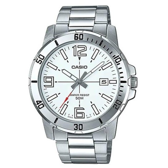 d42e9b6707c Relógio Casio Masculino MTP-VD01D-7BV - Prata - Compre Agora