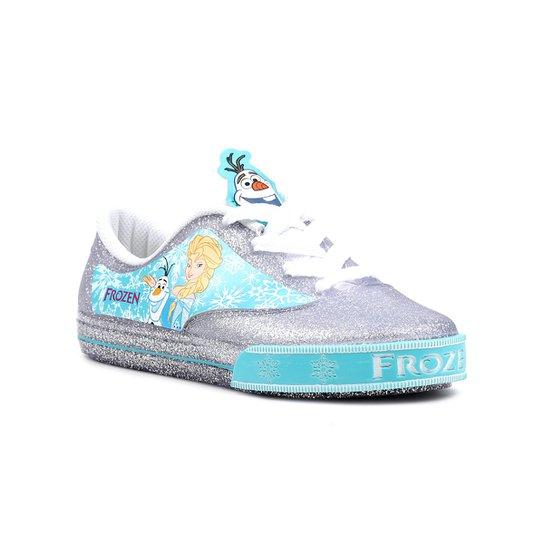 Tênis Infantil para Menina Disney Frozen Encantada Prata Azul - Prata b31a34006c4ca