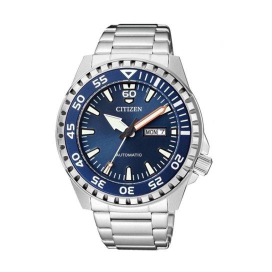 046f0184117 Relógio Citizen Masculino Automático - Prata - Compre Agora