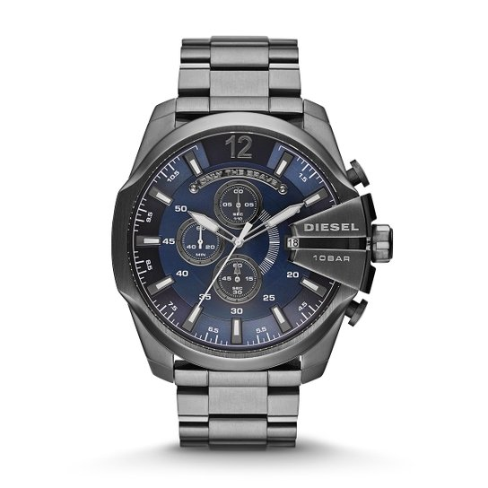 0edb00b533b Relógio Diesel Analógico 10 Bar - Prata - Compre Agora