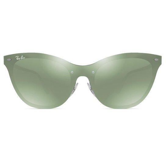 d3422df3b5f19 Óculos de Sol Ray Ban Blaze Cat Eye RB3580N 042 30-43 - Prata. Loading.