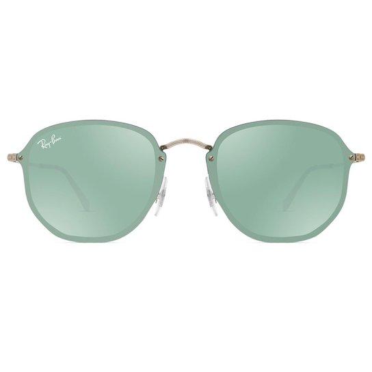Óculos de Sol Ray Ban Blaze Hexagonal RB3579N 003 30-58 - Prata ... 40f0448e6c