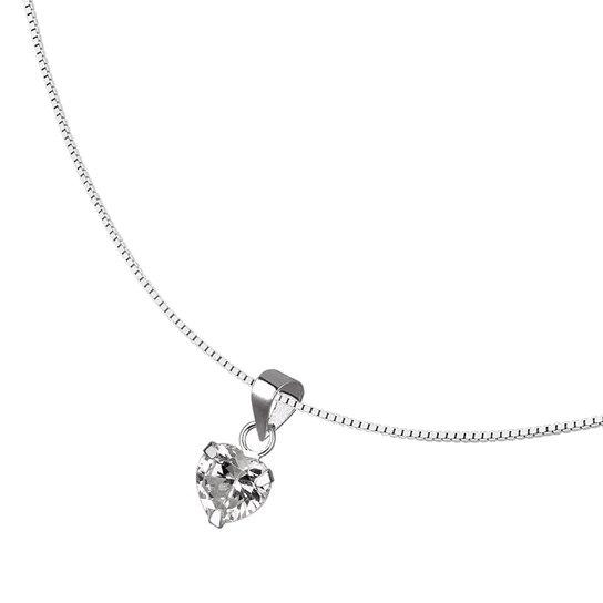 Colar Zircônia Coração em Prata 925 - Prata - Compre Agora   Zattini 79fe103ff4