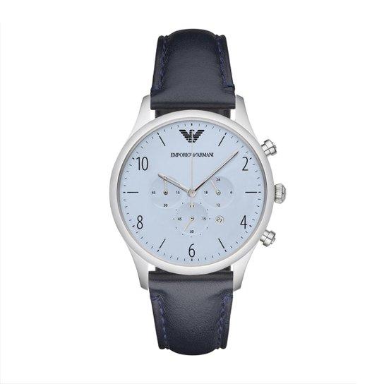 e3d96cf6fc6 Relógio Emporio Armani Masculino - Prata - Compre Agora