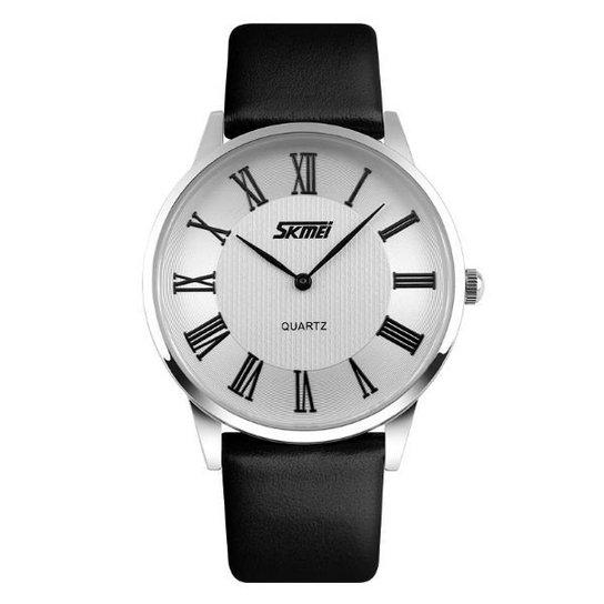 86d9f8d45ef Relógio Skmei Analógico 9092 - Prata - Compre Agora