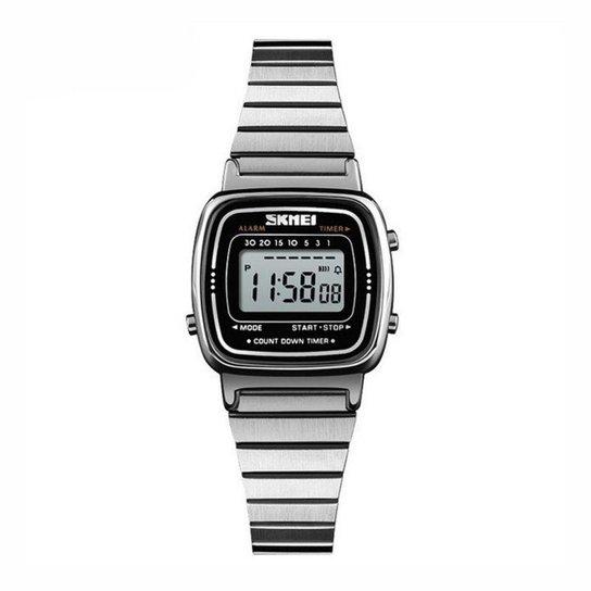 42c4040dd8e Relógio Skmei Digital - Prata - Compre Agora