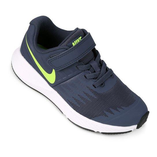 b0df8c461b Tênis Infantil Nike Star Runner Feminino - Marinho e Verde Limão ...
