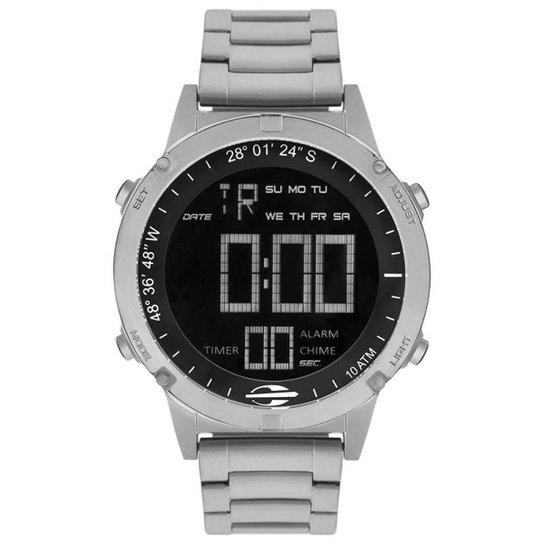 cbff7a549b838 Relógio Mormaii Digital Pro MOW139011P Prata Metal - Prata - Compre ...