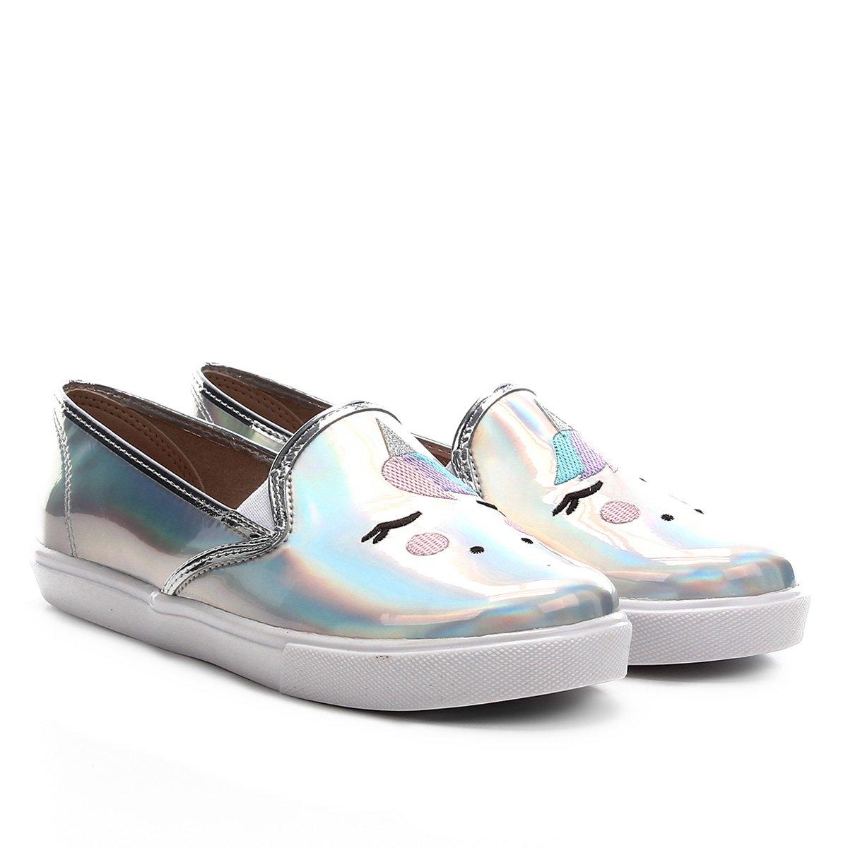 Sapato Infantil Molekinha Metal Glamour