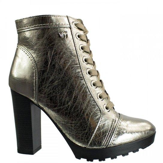 7514cb1ea3 Coturno Feminino Via Marte Metal Craquele 17-3703 - Prata