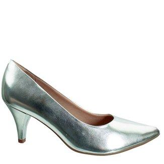 25055b188e Scarpins Piccadilly Feminino Prata Tamanho 40 - Calçados