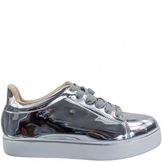 83f2990d5d1 Tênis Feminino Moleca Metal Glamour 5284.307 - Prata - Compre Agora ...