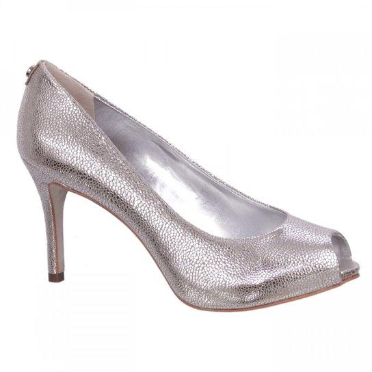 48e609570 Sapato Peep Toe Arraia Jorge Bischoff - Prata - Compre Agora