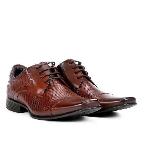 955d45b61 Sapato Social Couro Rafarillo Office Perfuros Masculino - Marrom Escuro