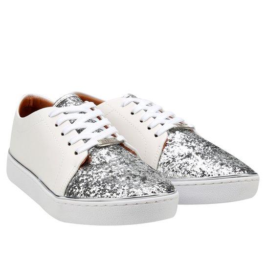 ba452d089b Tênis Vizzano Glitter - Branco e prata