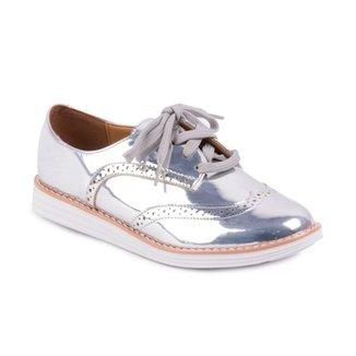 ba9b220804 Sapato Vizzano Oxford Metal Color