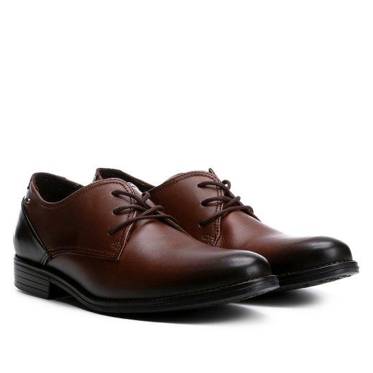 2bb871e8b Sapato Social Couro Pegada Anilina - Marrom Escuro | Zattini