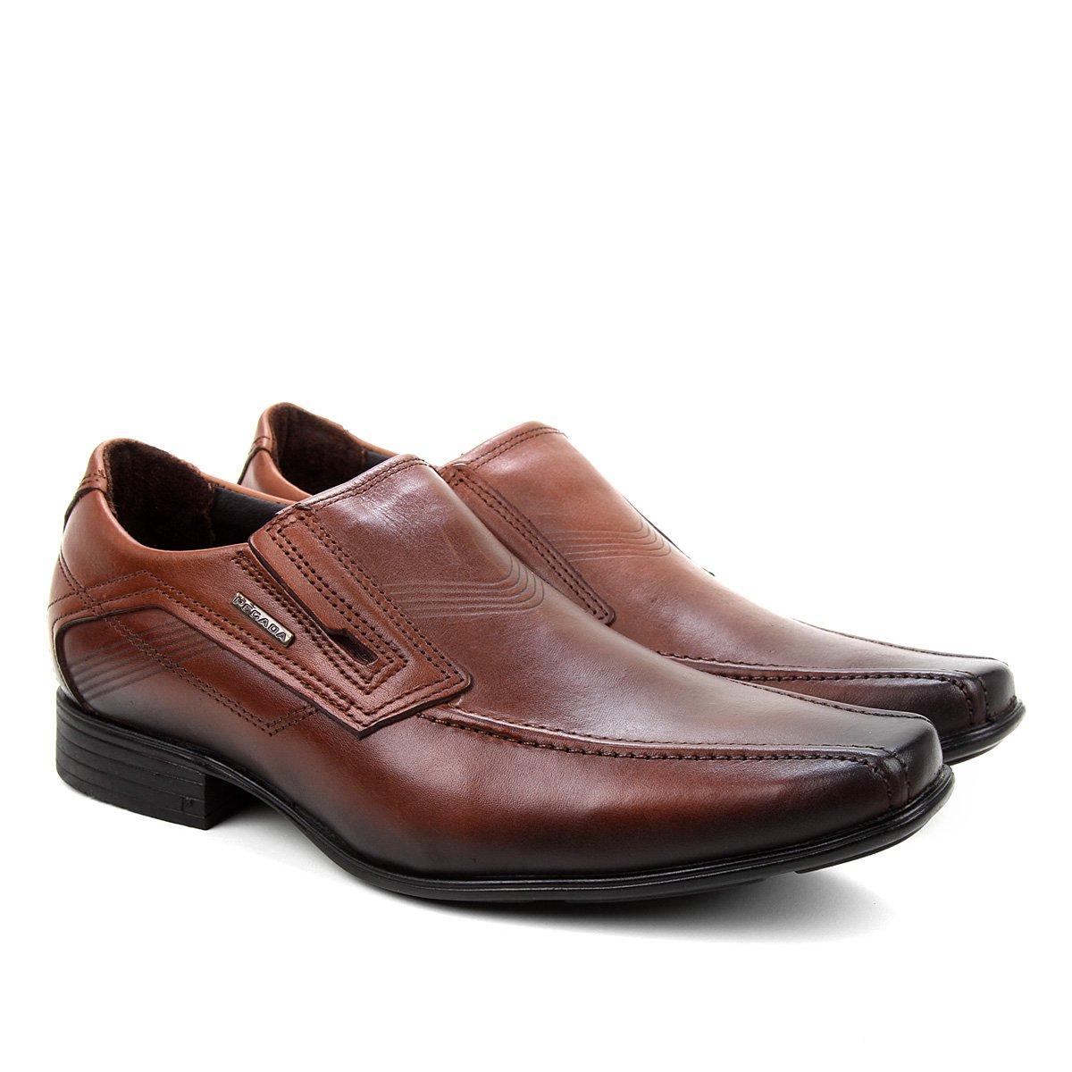 Sapato Social Pegada Sem Cadarço Bico Fino Masculino