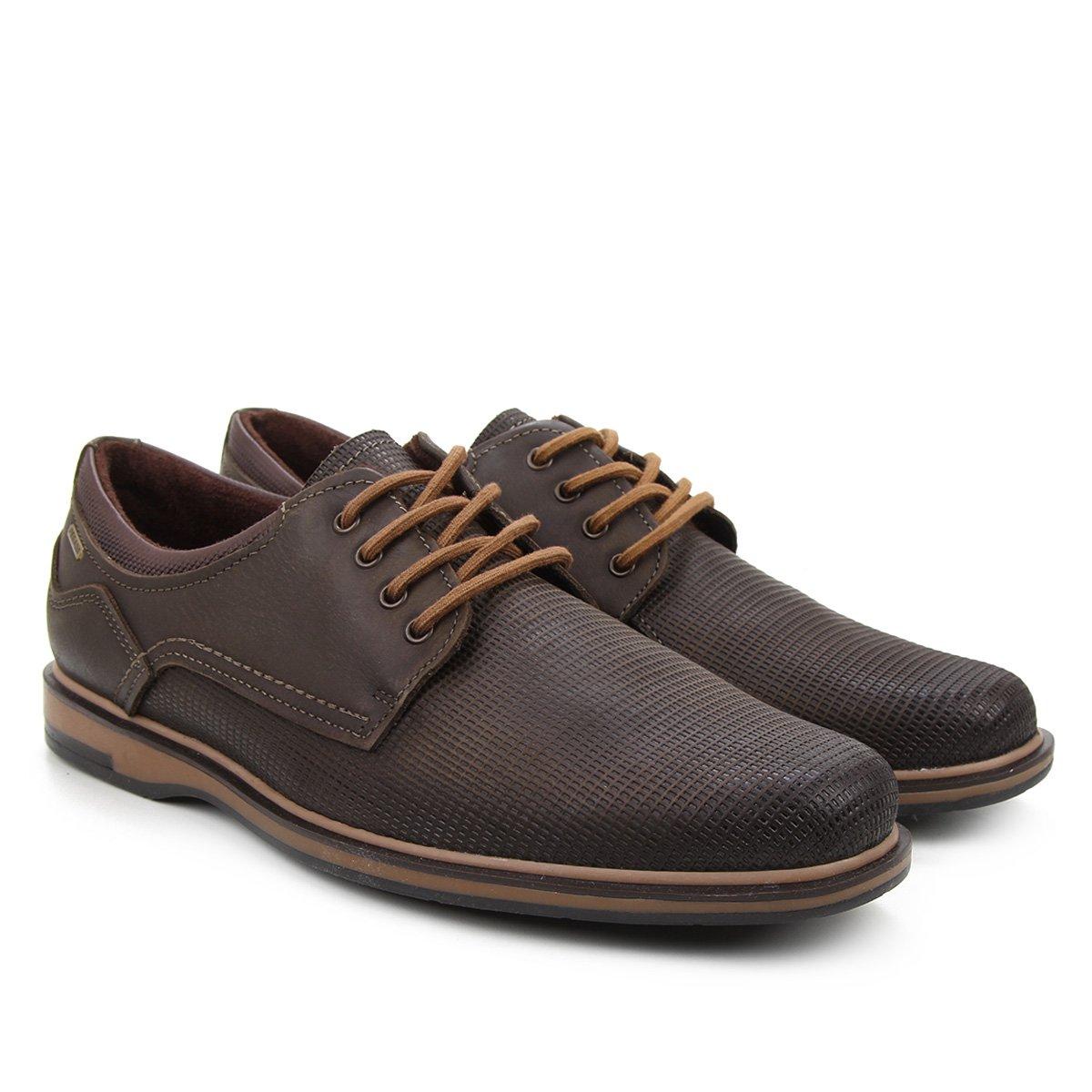 Sapato Casual Couro Pegada Textura Masculino