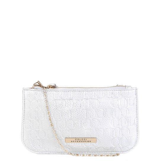 844048a6e Bolsa Colcci Mini Bag Tiracolo Alça Corrente Placa Feminina - Prata ...